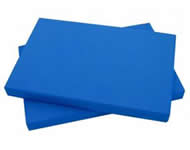 Sheets of blue EVA Foam