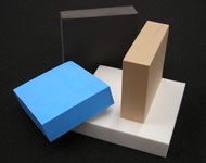 Blocks of polyethylene foam